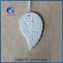white ceramic hanging heart ornament