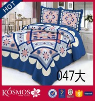 4pcs king queen 120gsm filling quilted plain bedspread of home