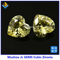 Free Shipping Synthetic 8*8mm Light Yellow Heart Shape AAA cubic zirconia /CZ stone Sale on Alibaba Express