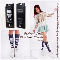 President Series Abraham Lincoln 88% cotton Crew Socks