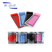 Foldable and easy carry silicone bluetooth wireless keyboard as promotional gift