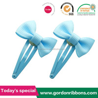 solid color hair bow clip/make kids hair clips wholesale
