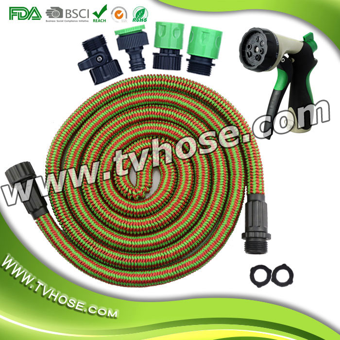 Adjustable high pressure for watering plants, car wash and showering pets flexible hose