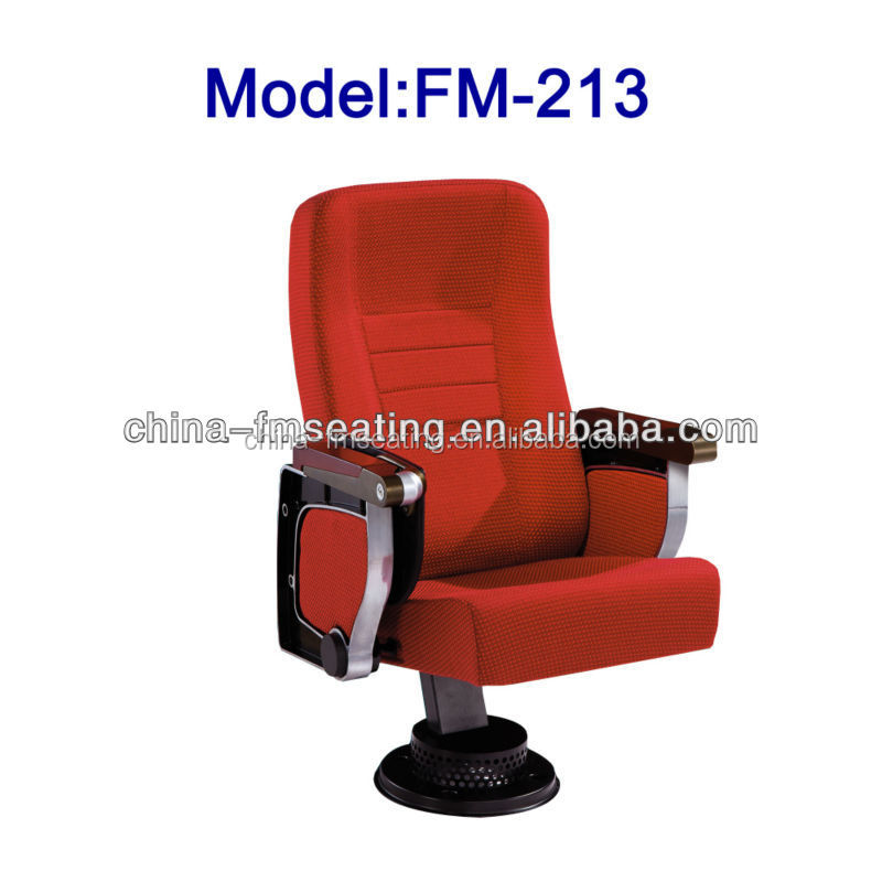FM-213 Fixed high back auditorium seats with armrests for sale