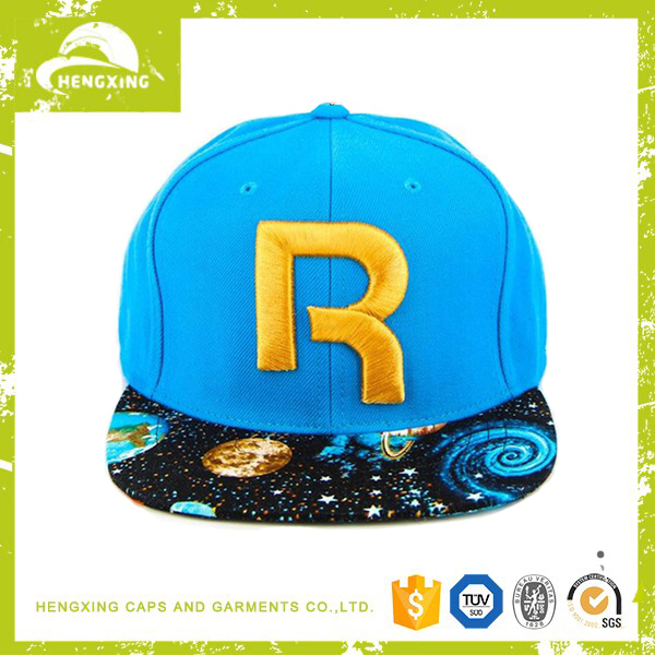 Small order custom wholesale 3D embroidery cotton snapback cap