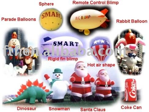 inflatables ,helium balloon ,cartoon ,replica,blimp,christmas