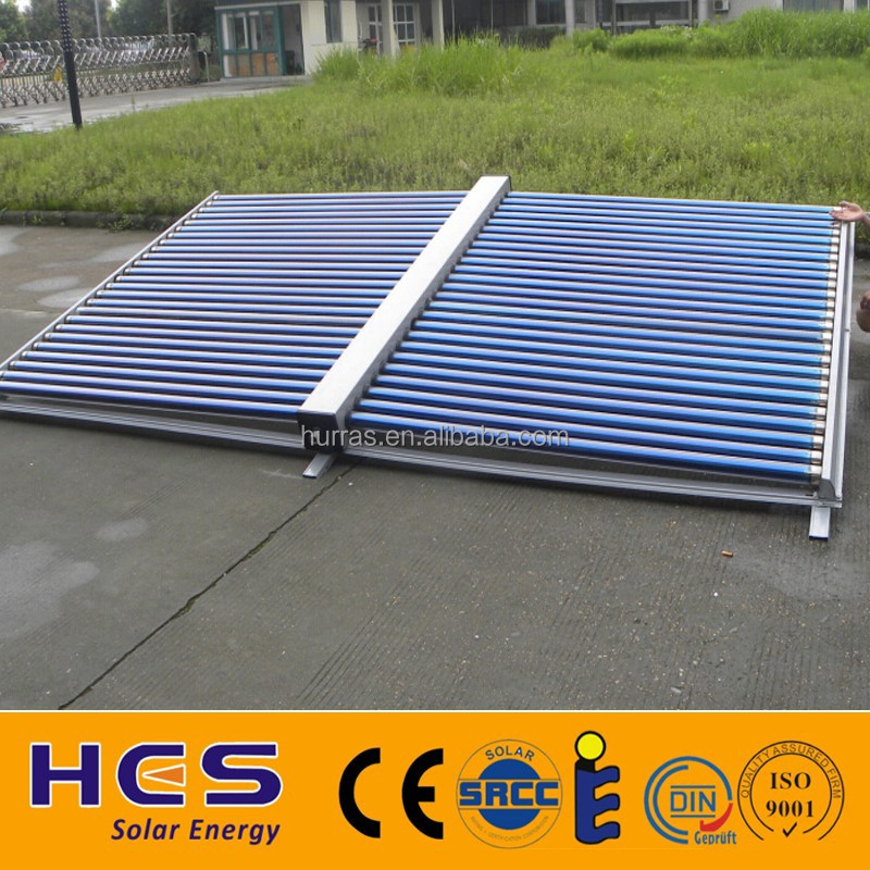 Direct Flow Unpressurized Vacuum Tube Solar Thermal Collector for Project, Hotel, Swimming Pool