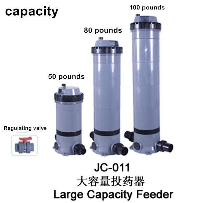 Large capacity chlorine automatic feeder used for swimming pools water disinfection