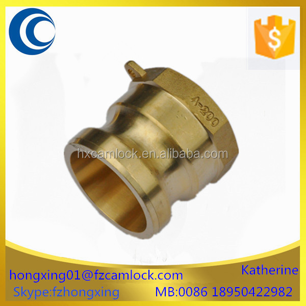 Brass cam and groove quick coupling