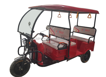 48V850W Three Wheel Electric Rickshaw Battery Tricycle Best Sale in India for Passenger