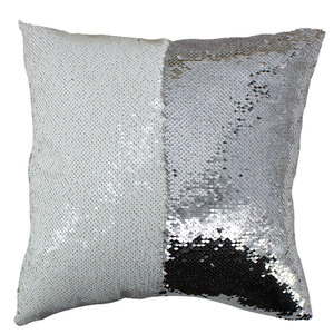 Magic Cushions Mermaid Reversible Love Sequin Throw Pillow Case for Sublimation