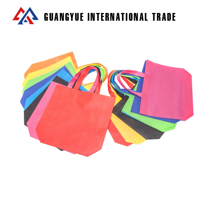 Guangyue <strong>Manufacturing</strong> Company Cheap Ultrasonic Non Woven Fabric Shopping Bag With Logo Custom