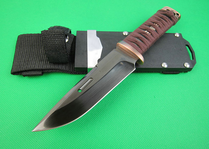 OEM tactical survival knives fixed blade hunting knife outdoor tool hand 7Cr17Mov 58HRC blade 1580