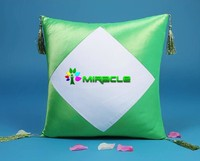 Sublimation Diamond Shape Pillow Cover,Blank Pillow Case - Light Green