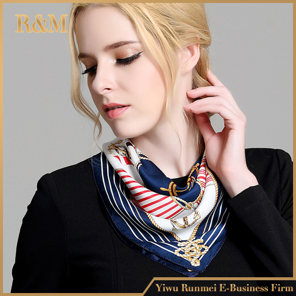 FACTORY DIRECTLY OEM quality plain silk satin scarf from China