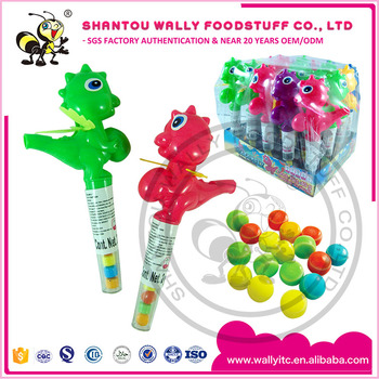 FUNNY CHINA DINOSAUR WITH WHISTLE TOY CANDY