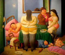 100% handmade Fernando Botero reproduction Handmade artwork oil painting 57686