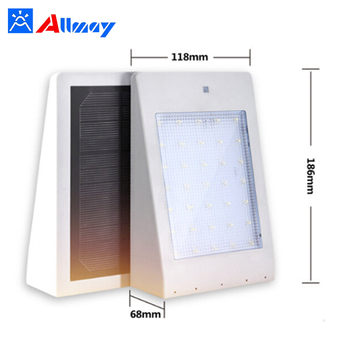 ip65 4W microwave motion outdoor sensor wall solar light led for garden and doorway