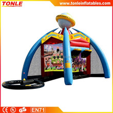 Inflatable World Sport Games, Inflatable Dart Frisbee Game, Inflatable Throwing Football Soccer for sale
