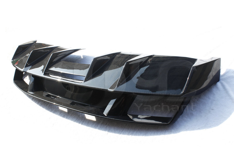 Trade Assurance Carbon Fiber Rear Diffuser Fit For 2008-2014 LP550 LP560 LP570 Superleggera Style Rear Bumper Diffuser
