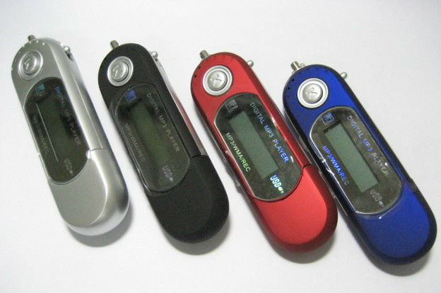 AAA battery digital mp3 player with recording function