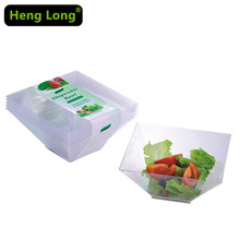Vegetable Fruit Salad Bowl Square Small Disposable Plastic Bowl