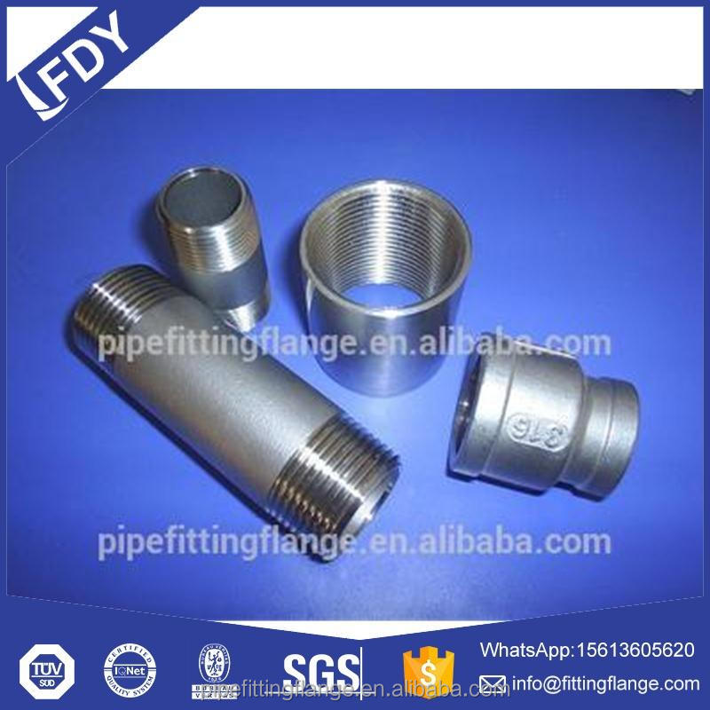 NPS Stainless Steel Pipe Threaded Welding Fittings Female/Male Nipple
