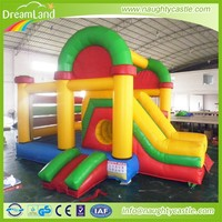 Inflatable red and yellow Castle Combo with Jumping Slide