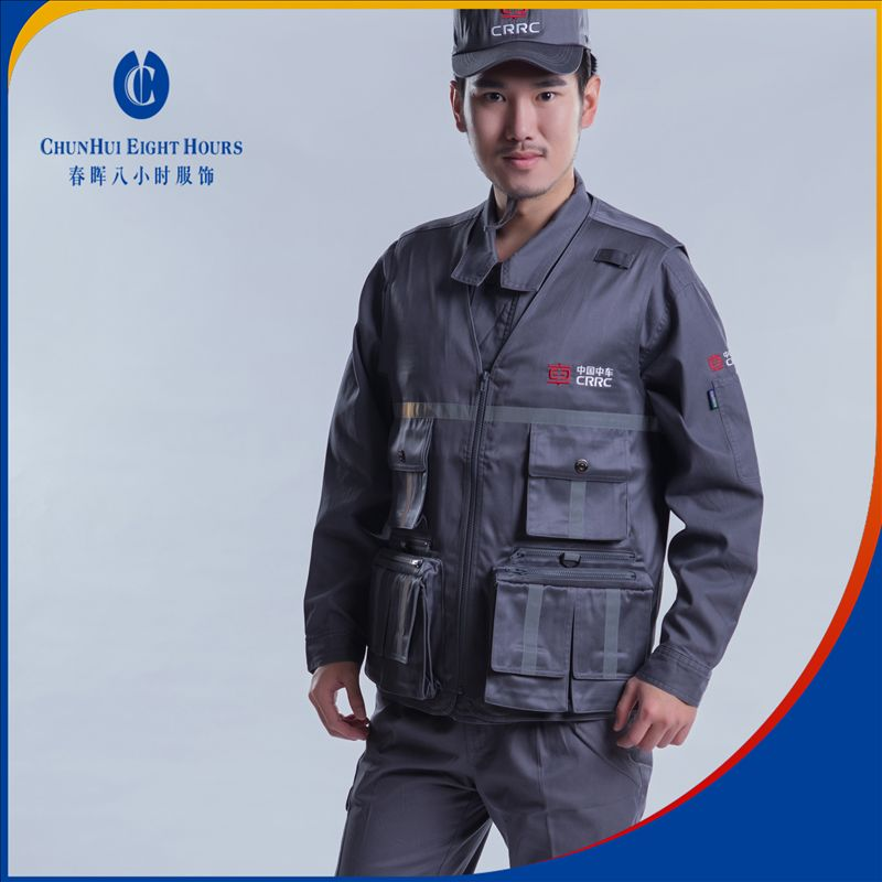 Multifunction man workwear clothing vest or waistcoat designed for the engineering and maintenance engineer
