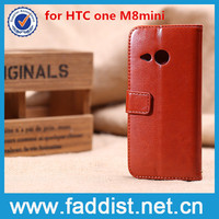 Flip Leather Case for HTC One M8 Mini Case Cover with Stand