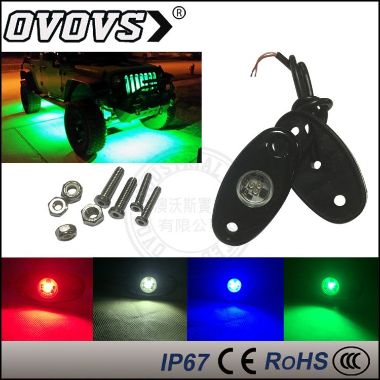 OVOVS Waterproof Mini 2'' 9W LED Rock Light auto Led Under Car Lights for Truck Auto J-EEP Off Road 4x4