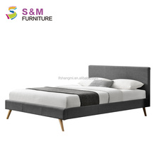 Double Design Fabric Luxury Frame Bed In China To Sale