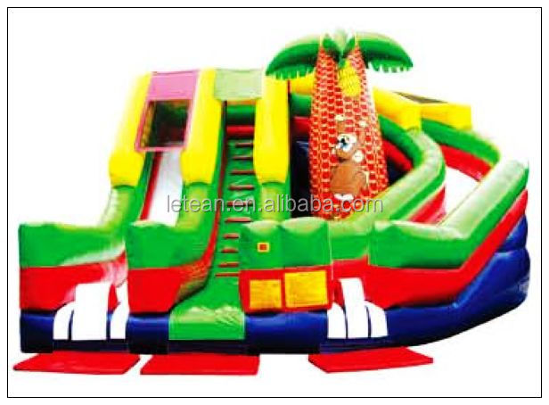 Top Quality Funny Inflatable Bouncy Castle Water Slide Inflatable Air Castle LT-2136C