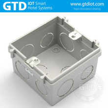 Silver connected high quality PC install wall mounting box