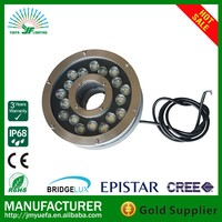 18W IP68 RGB led ring underwater fountain lights