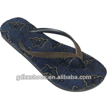 Best Selling Products Jean Insole Flim Flat Heel Sandal for Women Flip-flop