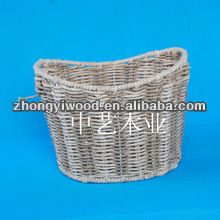 Eco-friendly straw basket bag for family