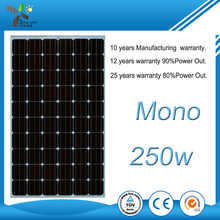 high quality Photovoltaic Solar Panel 250W mono Solar Panel Factory