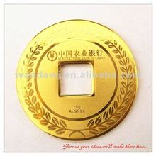 Gold painted die-casting zinc alloy coin souvenir