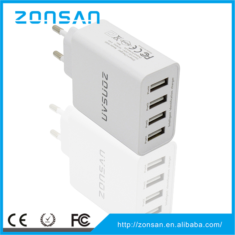 accessories for mobile CE,RoHS,FCC mobile phone usb charger , ODM/OEM quick deliver power sockets with smart IC