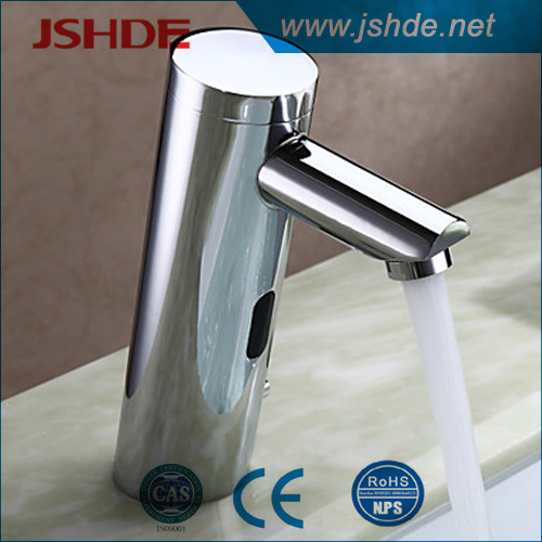 new style electronic lavatory faucet, chrome finish CE approved sensor lavatory faucet