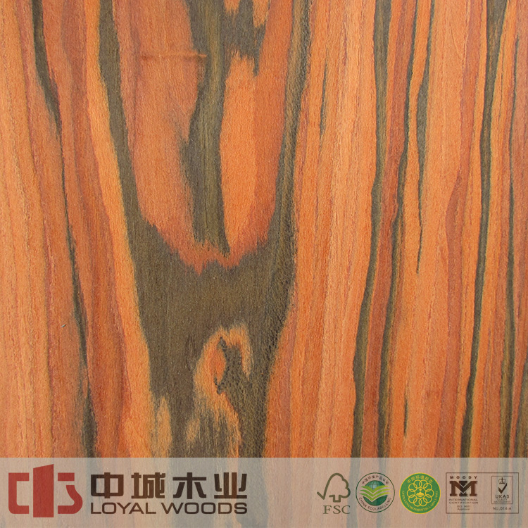Recon 4x8ft engineered laminate veneer santos rosewood log veneer