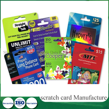 Factory wholesale convenient pvc gift game Scratch card,scratch Gift card