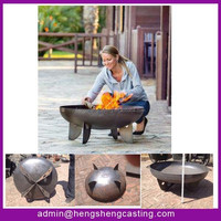 2015 new products garden treasure wood burning cast iron outdoor fire pit
