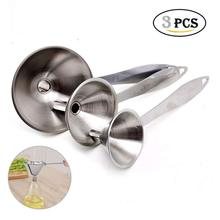 Hot selling latest design 2018 good price popular stainless steel mini funnel