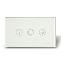 1gang 1way white wall light touch timer switch with blue led indicator in darkness for AU/US smart home
