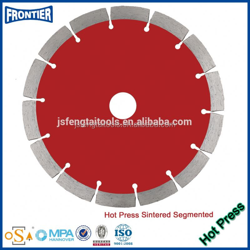 Hot pressed super sharp top durable quality sintered Diamond Turbo Saw Blade for cutting granite