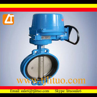 servo wafer handle butterfly valve iso5211