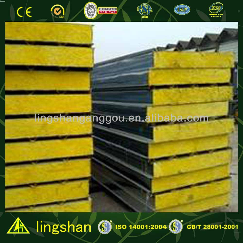 ISO 9001:2008 good price fiber glass sandwich wall panel