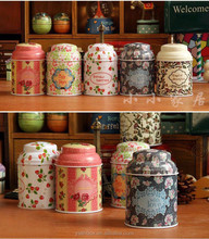 Round herbal candy tin can